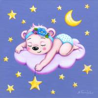 Sleeping Bear, nursery room decor Art Prints & Posters by Nopi Pantelidou
