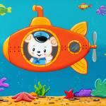 Bear Captain in submarine, nursery room art Prints & Posters