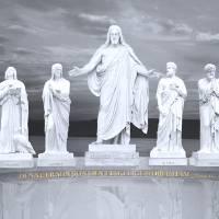 Christus & Apostles Lge2 b-w Art Prints & Posters by Fine Art by DB