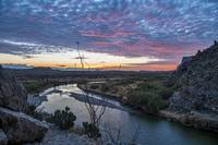 Texas Sunrise Over the Rio Grande River