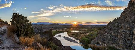 Sunrise at Santa Elena Canyon Pano