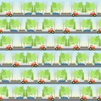 Cars and trees pattern