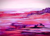 Nevada Abstract Landscape in Purple Tones