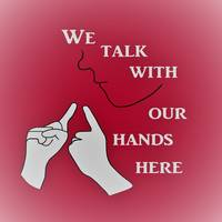 We Talk with our Hands Here Hot Pink Color