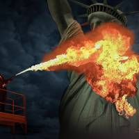 Burning Lady Liberty by I.M. Spadecaller