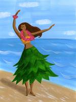 Coco-Masuda_Hula-girl-on-the-beach