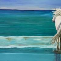 Sam at the Beach #5  by Leslie Anne Webb