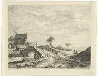 Landscape with houses near a bridge, Reinierus Alb