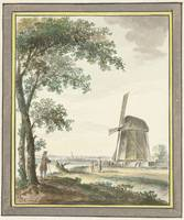 Landscape with windmill, Dirk Kuipers, 1743 - 1796