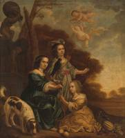 Portrait of Geertruyt, Margriet and Anna Delff, th