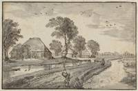 Road between Watercourses in a Polder Landscape, C