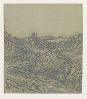 Rocky Landscape with a Gorge, Second Version, Herc