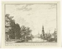 View of the Montelbaanstoren in Amsterdam from the