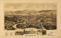 Aerial View of Vergennes, Vermont (1890)