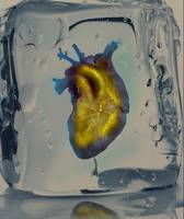 Heart of Gold encased in ice