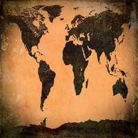 Grungy Abstract World Map