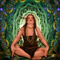 Vision Quest Spirit Alchemy - Visionary Art Art Prints & Posters by Leah McNeir