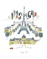 Paris Modern Cityscape Illustration