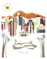 Phoenix Modern Cityscape Illustration