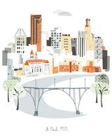 St Paul Modern Cityscape Illustration