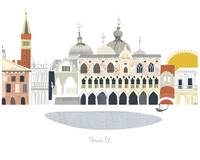 Venice Modern Cityscape Illustration