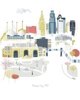 Kansas City Modern Cityscape Illustration
