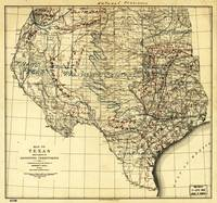 Natural Provinces, Map of Texas (1899)