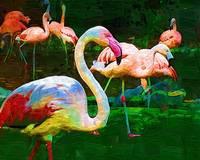 Impasto Flamingo by Kirt Tisdale