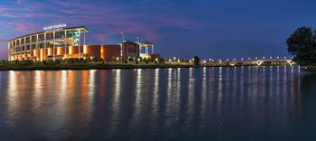 McLane Stadium Twilight Pano