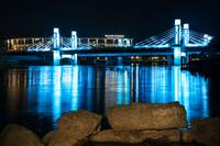 Wacos Brazos Bridge Night