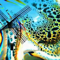 Windmills of  La Mancha Art Prints & Posters by Valerie Anne Kelly
