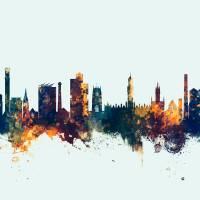 Bradford England Skyline Art Prints & Posters by Michael Tompsett