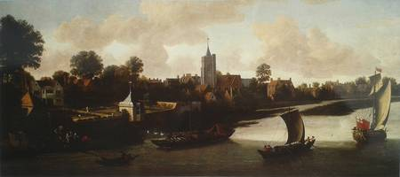 Corney House in Chiswick from the River by Jacob K