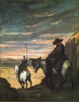 Don Quixote and Sancho Panza by Honore Daumier, 18