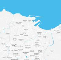 Minimalist Artistic Map of Tangier, Morocco