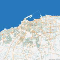 Minimalist Modern Map of Tripoli, Libya 2