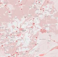 Minimalist Modern Map of Yerevan, Armenia 1
