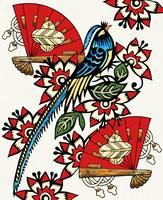 Asian Bird Art Deco