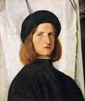Lorenzo Lotto. Portrait of a Young Man against a W