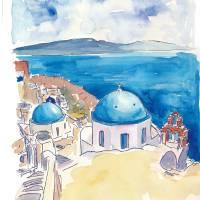 """""""Santorini Oia View Mediterranean Dream"""" by arthop77"""