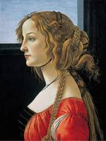 Sandro Botticelli , Portrait of a young woman