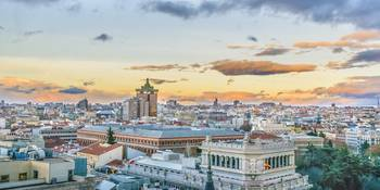 Aerial View Madrid Cityscape Panoramic