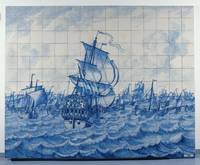 Tile Panel depicting the Warship Rotterdam and the