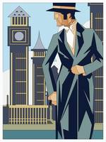 Art Deco Stylish Gentleman in the City