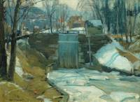 Ice-Bound Locks by John F. Carlson (1874-1945)