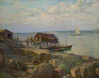 Newfoundland Fish Wharf by William Partridge Burpe