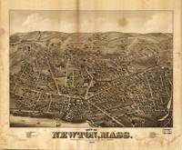 Aerial View of Newton, Massachusetts (1878)