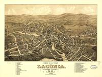 Bird's Eye View of Laconia, New Hampshire (1883)