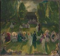 Tennis at Newport , George Bellows