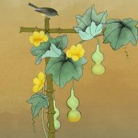 Squash Vine And Bamboo by I.M. Spadecaller